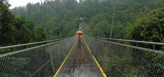 Keseruan melintasi Suspension Bridge di Situ Gunung