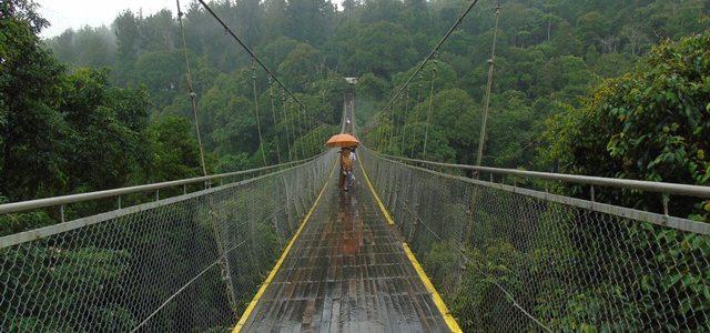 Keseruan melintasi Suspension Bridge di Situ Gunung